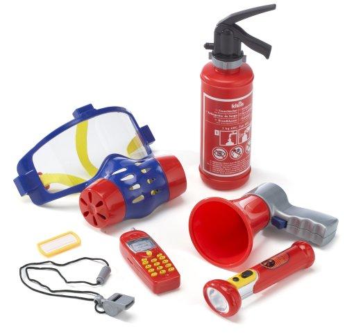 Klein - 8950 - Jeu d'imitation - Set de pompier avec masque à gaz, 7 pièces