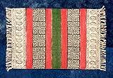 Alfombra de madera con diseño étnico de Goregous con estampado de bloques de mano de Dios Oración Esterilla de asiento para meditación Yoga Alfombra Kilim Pequeña Zona Alfombra Kilim Alfombra Kilim
