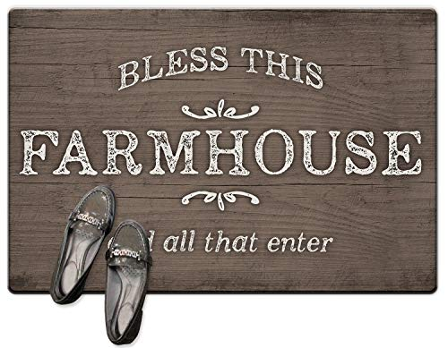 Decorative Anti-Fatigue Floor Mat - Bless This Farmhouse and All That Enter