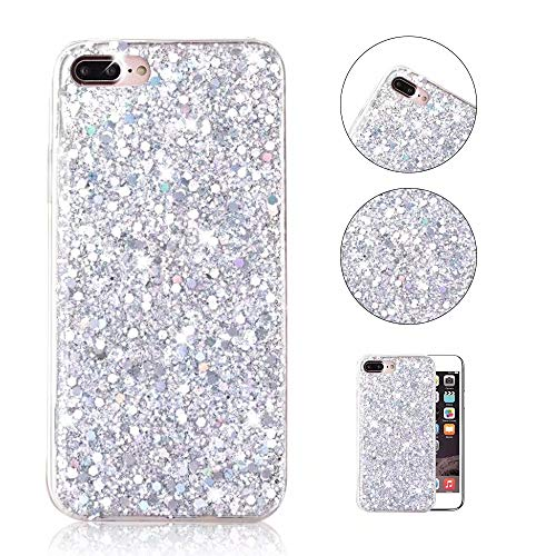 iPhone 8 Plus Funda,QianYang iPhone 7 Plus/iPhone 8 Plus 5.5 Pulgada Fundas Bling Sparkle Ultra Slim Suave TPU Case Protector Cover