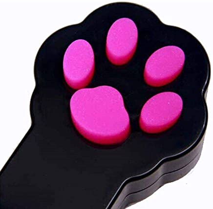 Tease Sticks Cat Toys Pet Cat Catch Interactive Infrared Light Pointer Toy Exercise Scratching Training Tool Paw Style (Black)