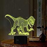 Inteligente Crafty Dinosaur Night Lights 7 Colores Cambiantes Regalo Para Los Amantes De La Película De Ciencia Ficción Dinosaur Lover Kids Gift