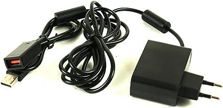 HOTSO Cargador de Xbox 360 Kinect Microsoft AC Adaptador de Corriente Alterna Cable Conector de USB Sensor Repuesto – Enchufe Europeo