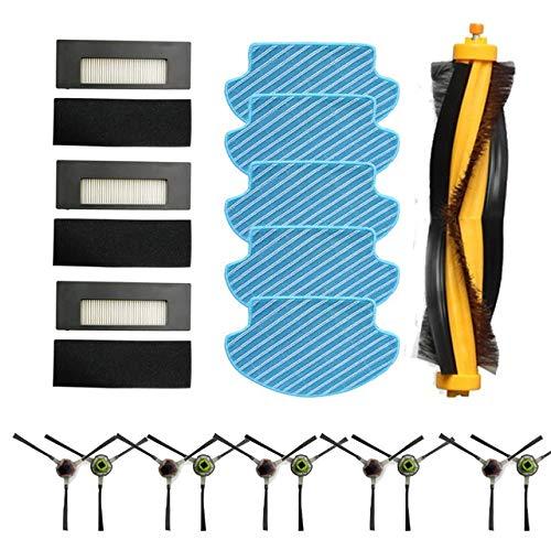 Accesorios para Aspiradora Rodillo de cepillo Hepa filtro por el lado del cepillo for Ecovacs Deebot DE55 DE53 DE6G Aspirador de piezas Cepillo de limpieza Mop Cloth accesorio ( Color : Dark Grey )
