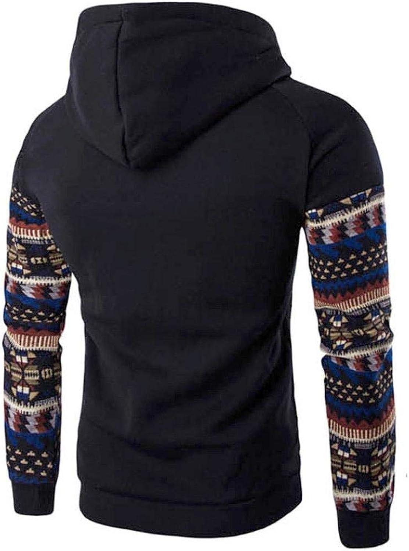 ZFADDS Men Retro Long Sleeve Hoodie Hooded Sweatshirt Tops Jacket Coat