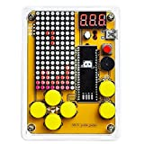 DIY Soldering Project Game Kit Retro Classic Electronic Soldering Kit with 5 Retro Classic Games and Acrylic Case, Idea for STEM High School Family Education Friends by Etoput