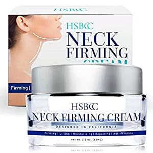 Neck Firming Cream with Peptides, Neck Cream, Double Chin Reducer Cream, Anti Wrinkle Anti Aging Neck Firming Cream, Advanced Stem Cell + Collagen Formula For Tightening & Lifting Double Chin Skin by HSBCC
