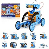 RCSPACEX Stem Project Toys for Kids, 12 in 1 Solar Robots Science Experiments Kit for Boys, Solar and Cell Powered Educational Stem Robot Building Set for Boys and Girls Age 8-12