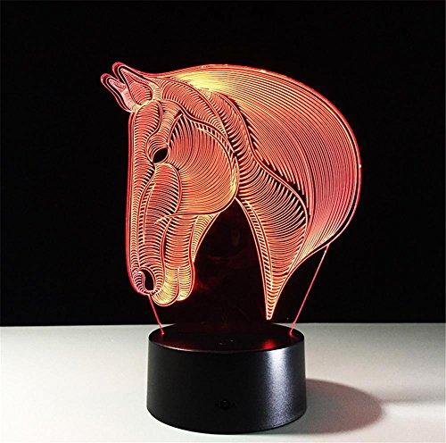 Veilleuses Lampe de bureau 3d 7 couleurs Changement tactile interrupteur à distance Tableau de commande LED Night Light Lighting Décoration Accessoires pour la maison