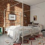 Novogratz Marion Canopy Bed, Full, White