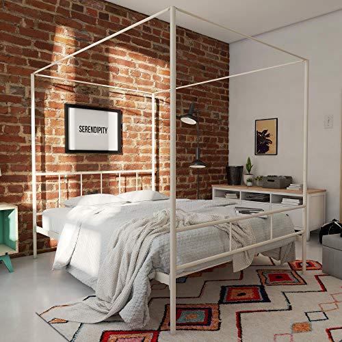 Novogratz Marion Canopy Bed, White, Queen