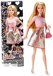 Barbie Mattel Year 2014 Fashionistas Series 12 Inch Doll Set (CLN60) in Dream Floral Dress with Purse