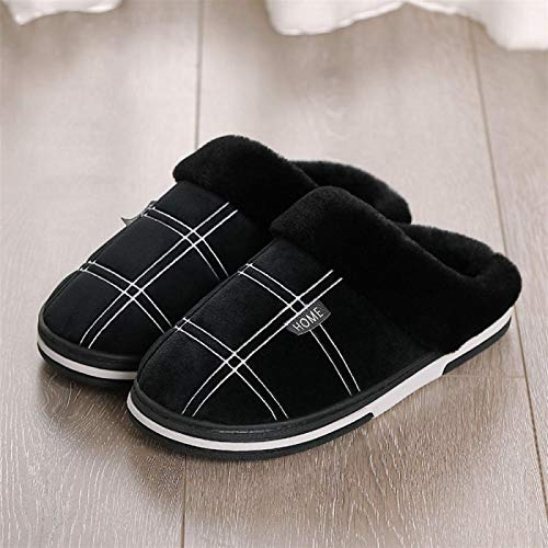 Xx101 Winter Paar Baumwolle Pantoffeln Innen Warmen Herbst Nicht Nixx0 (Color : Black, Size : 13.5)