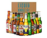 World of Lager Gift Pack, 12 Bottle Mixed Case. A Variety of Favourite Lager Beers Including Stella Artois, Corona, Budweiser and Heineken. Perfect as a Beer Hamper Gift Set