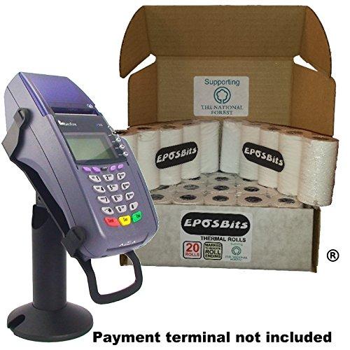 eposbits® Marke Medium Größe Rolls to Fit Verifone VX510vx-510VX 510Kreditkarte Terminal?20Rollen?1Box (Chip & Pin)