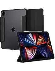 Spigen Ultra Hybrid Pro etui zaprojektowane dla iPada Pro 12,9 cala 5. generacji etui pokrowiec z uchwytem na ołówki / funkcją automatycznego budzenia / funkcja potrójnego składania (2021) - czarny