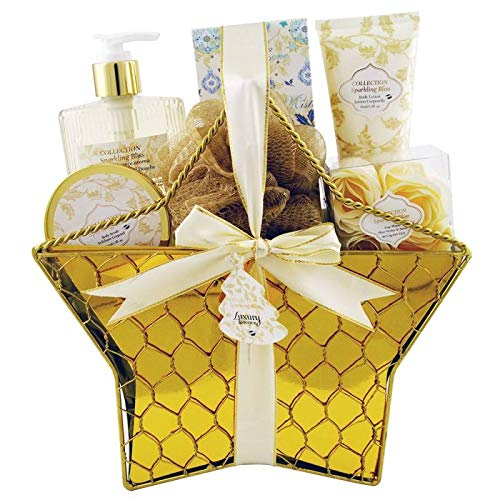 Gloss Gourmet Delights Badeset Geschenkbox Coconut Marshmallow 5 teiliges, 1er Pack (1 x 580 g) Geschenk-Box - Bade-Geschenk