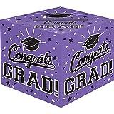 Amscan Grad Cardholder Box, 12' x 12' x 12', Purple