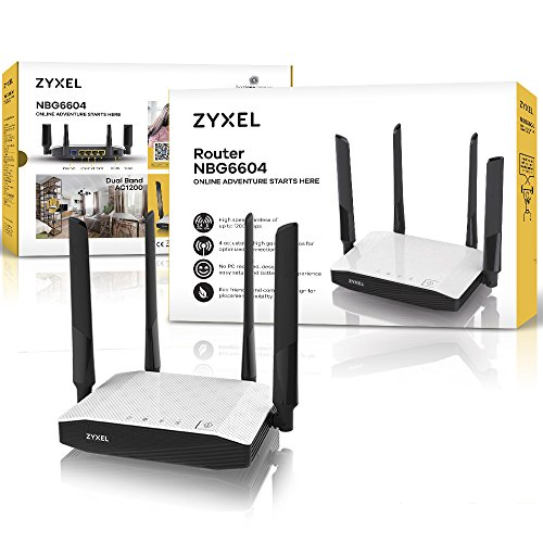 Zyxel AC1200 Dual-Band Wireless Kabel-Gigabit-Gateway-Router [NBG6604]