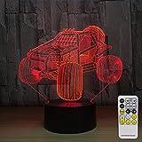 El Cambio de Color de la decoración del vehículo Todoterreno Tiene una luz Nocturna remota para bebés Junto a la lámpara de los niños como Regalo para la Fiesta de cumpleaños.