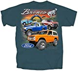 Bronco Small Cotton Ford T-Shirt Midnight Blue Adult Men's Women's Short Sleeve T-Shirt