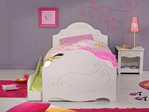Kinderbett Anne 3, 90x200cm, weiß lackiert, mit Nachttisch und Bettkasten, Kinderzimmer - 2