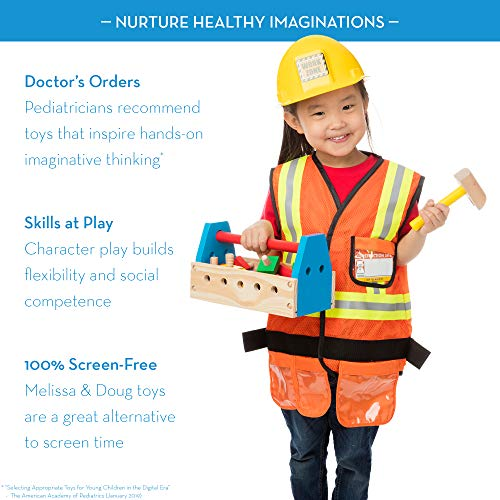 Melissa & Doug Construction Worker Costume Set