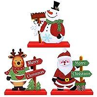CLFYOU クリスマス オーナメント 卓上飾り イルミネーション 飾り付け クリスマス飾り おしゃれ デコレーション インテリア雑貨 玄関 飾り 室内 装飾 パーティー イベント 家庭 店 カフェ 3個セット