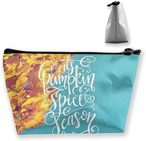 Oktober Kalender Make-up Tasche Große Trapez Aufbewahrung Reisetasche Waschen Kosmetikbeutel Stifthalter Reißverschluss Wasserdicht Tragbar 8660