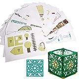 [Uso reciclado]: utilice material delgado y suave, puede ser reciclado, respetuoso con el medio ambiente. [20 modelos de papel en papel para la práctica]: viene con la configuración y le muestra cómo crear el modelo que desea, lo que ayuda a desarrol...