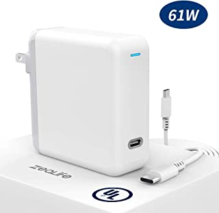 ZeaLife 61W USB C Power Adapter, USB Type C PD Wall Charger Brick for Thunderbolt 3 Charger Port MacBook Pro, MacBook Air, Dell XPS, Matebook, iPad Pro, iPhone, Galaxy and More