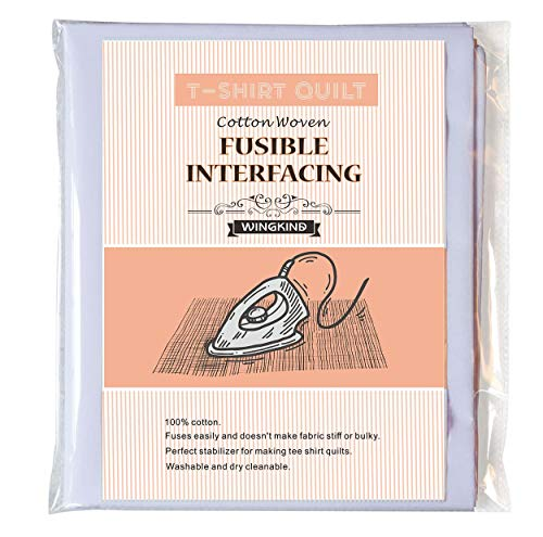 """T-Shirt Quit Project Fusible Interfacing, White (44"""" x 79"""")"""