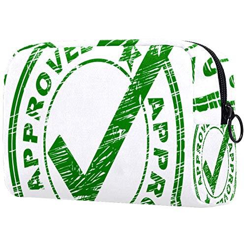 Goedgekeurd Stempel-IndicatesSmall Make-up Bag voor portemonnee Reizen Make-up Pouch Mini Cosmetische Tas voor Vrouwen