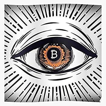 Pattern Ethereum Bitconnect Bitcoin Eyes Eye Litecoin ETH BTC Best Poster Wall Art for Home Decoration 16x24 Inches