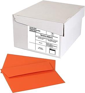 inapa Enveloppen tecno Colors - DIN-C6 (114 x 162), 80 g, intens oranje, zelfklevend, zonder venster, 250 stuks (10 x 25)