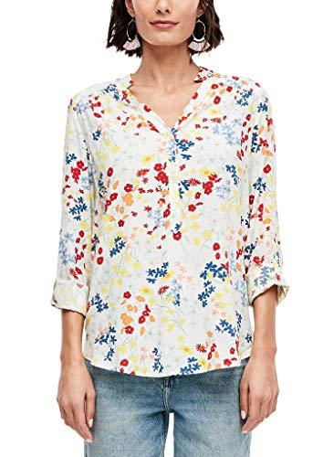 s.Oliver Damen Bluse mit floralem Muster off-white AOP 46