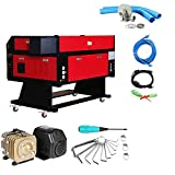 Superland 80W CO2 Laser Laser Engraver Engraving Cutting Machine with Color Screen 700X500mm (20'x28' 80W )