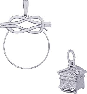 Rembrandt Charms Beehive Charm on an Optional Charm Holder