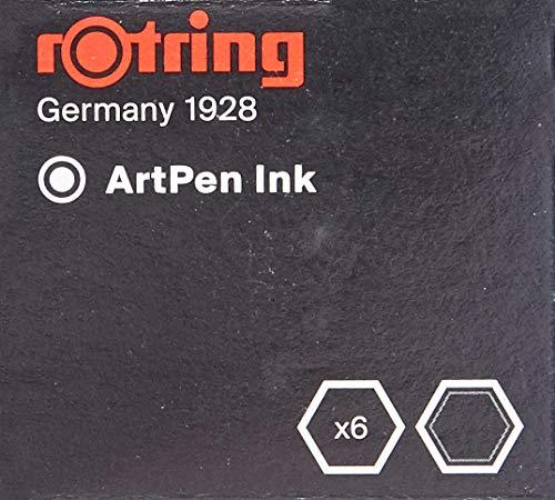 Artpen/tintas para caligrafía: la mejor tinta para su Rotring Artpen y sus trabajos de caligrafía Alta intensidad para una calidad óptima de dibujo y escritura Tinta negra Cartuchos internacionales (tamaño pequeño) No es adecuado para su uso en tatua...