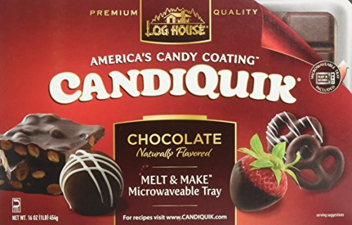 Log House CandiQuik Candy Coating, Chocolate, 16 Ounce Package (Pack of 2)