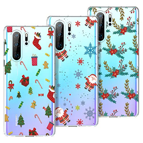 KOTPARX Funda para Huawei P30 Pro, Christmas Navidad Carcasa Transparente Funda de Silicona Suave TPU Ultra Fina...
