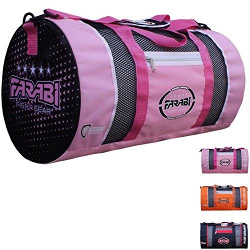 Farabi - Borsa per allenamento, palestra, fitness, MMA, borsa da pugilato, borsone da allenamento o da viaggio (rosa)