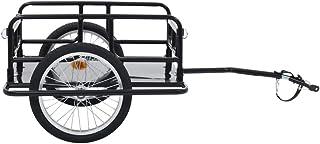 comprar comparacion Festnight Remolque para Bicicletas Remolque de Carga para Bici 130x73x48,5 cm Negro