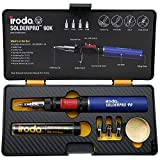 Iroda Solderpro Pro 90K, Cordless Soldering Iron Kit, 3-in-1 Heat Shrink, Hot Knife, Butane Soldering Iron Torch, Perfect For Hobbyists, 25 Second Heat Up, 100 Mins Run Time Butane Not Included