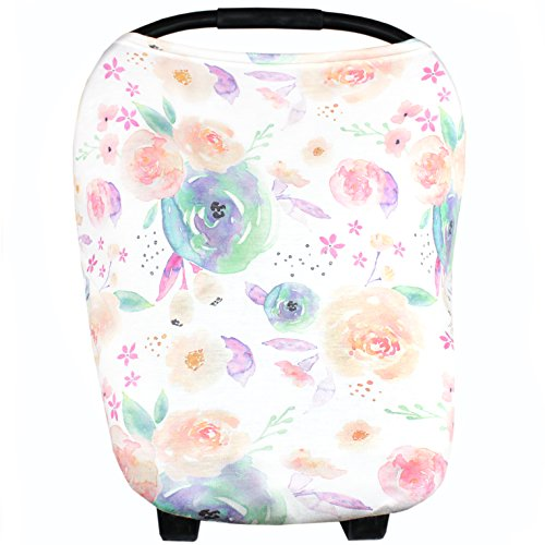 Product Image of the Baby Car Seat Cover Canopy and Nursing Cover Multi-Use Stretchy 5 in 1...