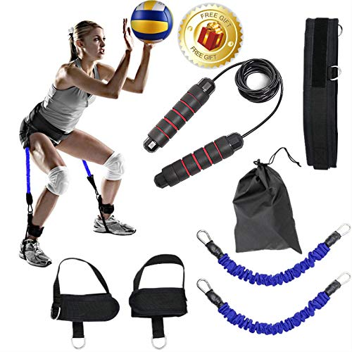 Vertical Jump Trainer and Weighted Jump Rope Set for Jump Training,Leg Strength Muscle Workout,Jump Training,and Jump Training for Volleyball Basketball Football Explosive Power Training