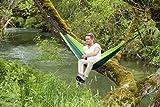 Hängematte Silk Traveller Fallschirmseide grün – Belastbar bis 150 Kg - 6