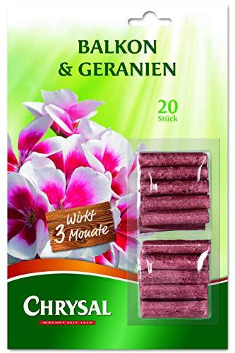 Chrysal Balkon & Geranien Düngestäbchen 20 Stück