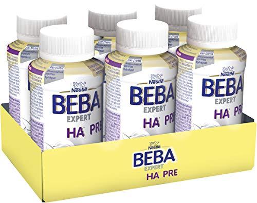Nestlé BEBA EXPERT HA PRE Hypoallergene Säuglings-Anfangsnahrung, trinkfertig von Geburt an, 6x200 ml