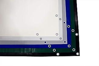 (480g/m²) vrachtwagenzeil, PVC zeil met 20 mm ogen, verschillende kleuren, ZONDER zoom (3m x 17m, grijs RAL7042)